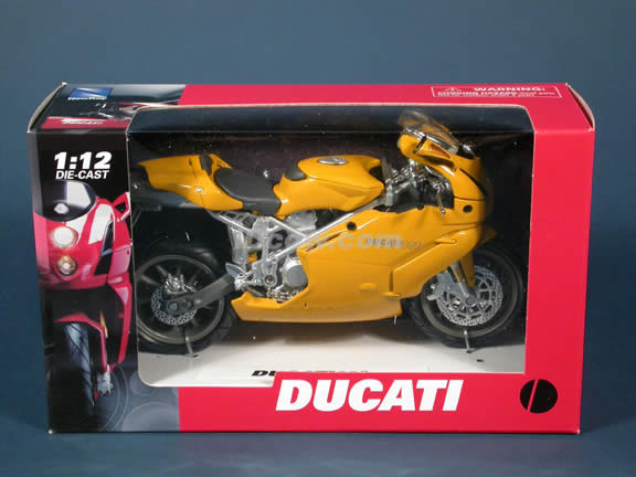 Ducati 999 diecast motorcycle 1:12 scale die cast by NewRay - Yellow