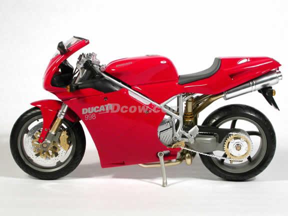 Ducati 998 Model Diecast Motorcycle 1:6 die cast by NewRay - Red