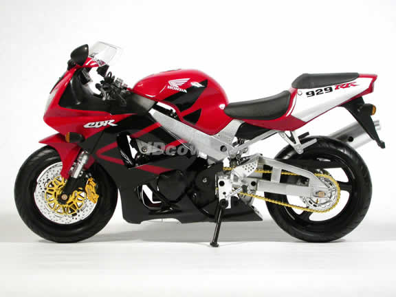 Honda CBR 929RR Model Diecast Motorcycle 1:6 die cast by NewRay - Red