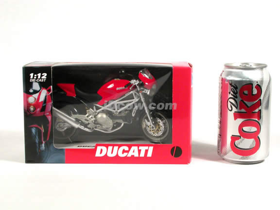 Ducati Monster S4 diecast motorcycle 1:12 scale die cast by NewRay - Red