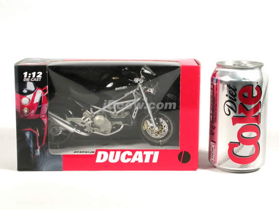 Ducati Monster S4 diecast motorcycle 1:12 scale die cast by NewRay - Black