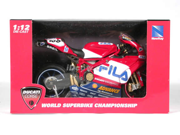 Ducati 999 Neil Hodgson #100 diecast motorcycle 1:12 scale die cast by NewRay