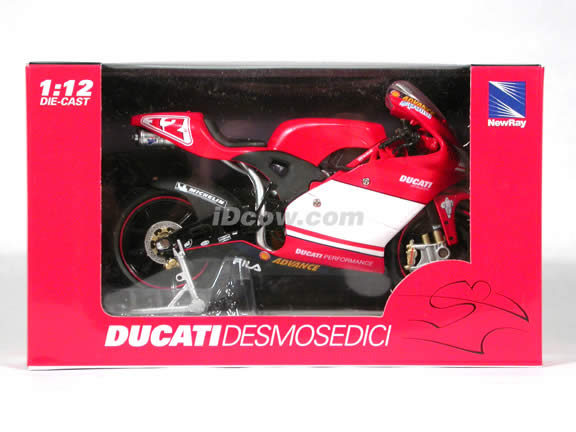 Ducati Desmosedici Troy Bayliss #12 diecast motorcycle 1:12 scale die cast by NewRay