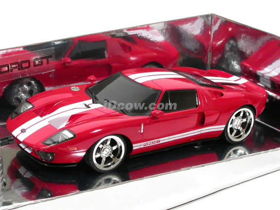 2005 RC Ford GT model car 1:18 scale by XQ Toys - Red