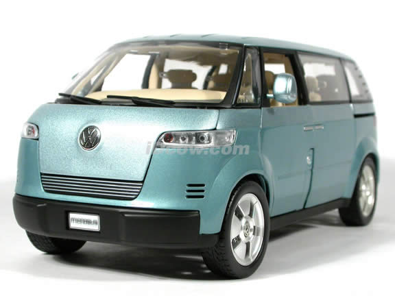 VW Microbus Concept diecast model car 1:18 scale die cast by Revell - Light Blue