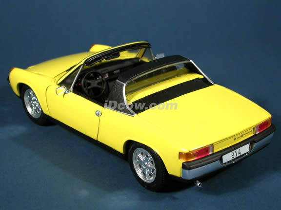 Porsche 914 diecast model car 1:18 scale die cast by Revell - Yellow
