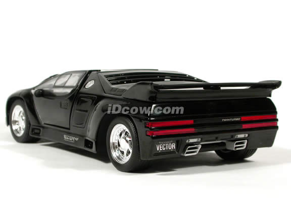 1991 Vector W8 Twin Turbo diecast model car 1:18 scale die cast by Ricko Ricko - Black