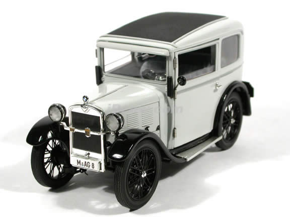 1928 BMW Dixi diecast model car 1:18 scale die cast by Ricko Ricko - Grey