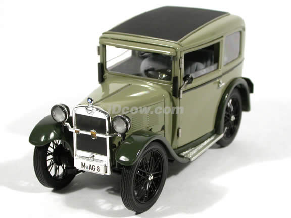 1928 BMW Dixi diecast model car 1:18 scale die cast by Ricko Ricko - Olive Green
