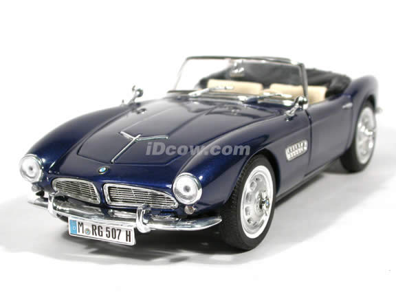 1956 BMW 507 diecast model car 1:18 scale die cast by Ricko Ricko - Blue