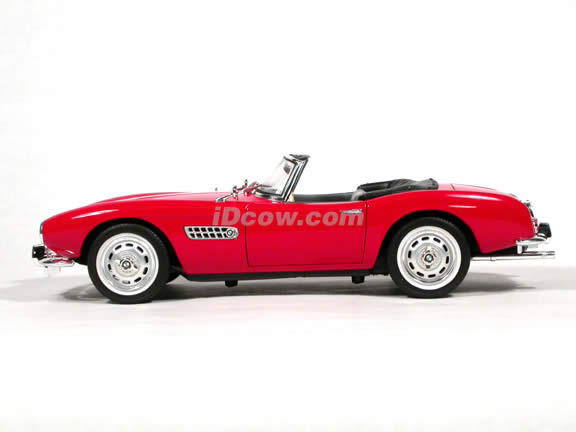 1956 BMW 507 diecast model car 1:18 scale die cast by Ricko Ricko - Red
