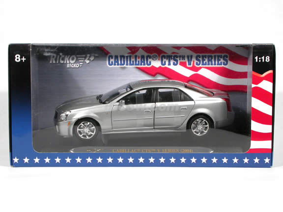2004 Cadillac CTS V Series diecast model car 1:18 scale die cast by Ricko Ricko - Silver