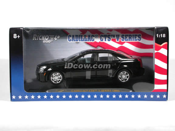 2004 Cadillac CTS V Series diecast model car 1:18 scale die cast by Ricko Ricko - Black