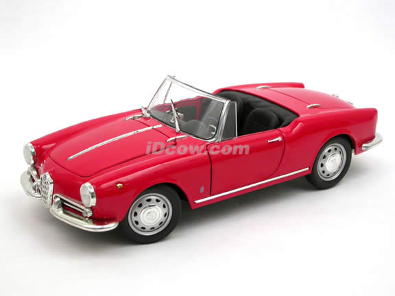1959 Alfa Romeo Giulietta Spider diecast model car 1:18 scale die cast by Ricko Ricko - Red 32142