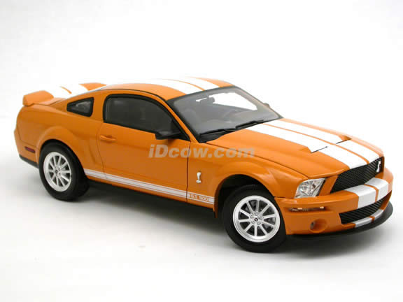 2007 Ford Mustang Shelby GT500 diecast model car 1:18 scale die cast by Shelby Collectibles - Orange DC7500011