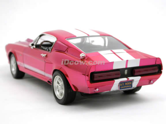 1967 Ford Mustang Shelby GT500E Eleanor diecast model car 1:18 scale die cast by Shelby Collectibles - Chrome Red DC500ELC03