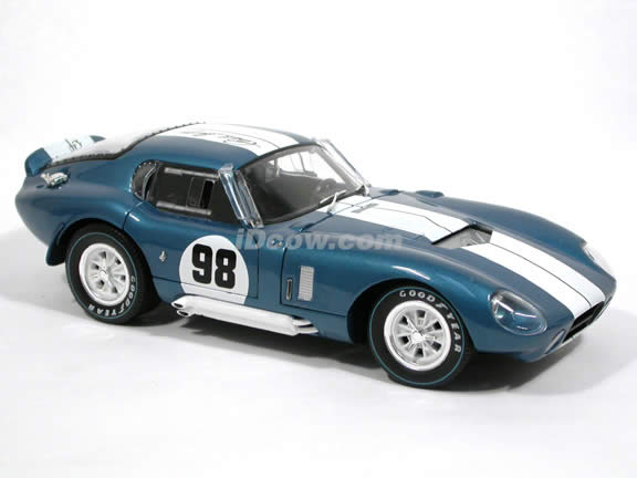 1965 Shelby Cobra Daytona Coupe diecast model car 1:18 scale by Shelby Collectibles - Blue DC28901 Limited