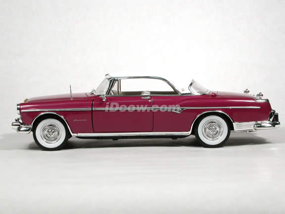 1955 Chrysler Imperial diecast model car 1:18 scale die cast by Signature Models - Lavender