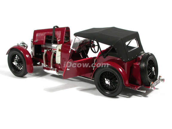 1934 Aston Martin MKII diecast model car 1:18 scale die cast by Signature Models - Maroon