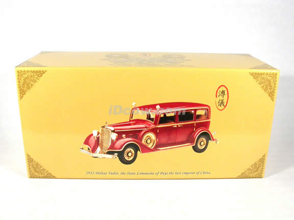 1932 Deluxe Tudor the State Limousine of Puyi the last emperor of China diecast model car 1:18 scale die cast by Sun Star