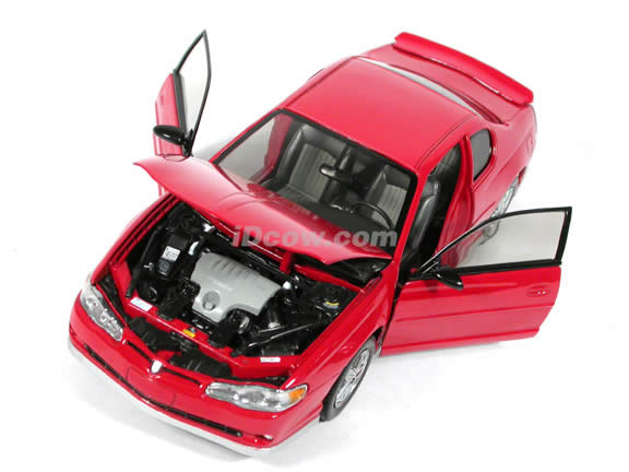 2003 Chevrolet Monte Carlo SS Diecast model car 1:18 scale die cast by Sun Star - Red