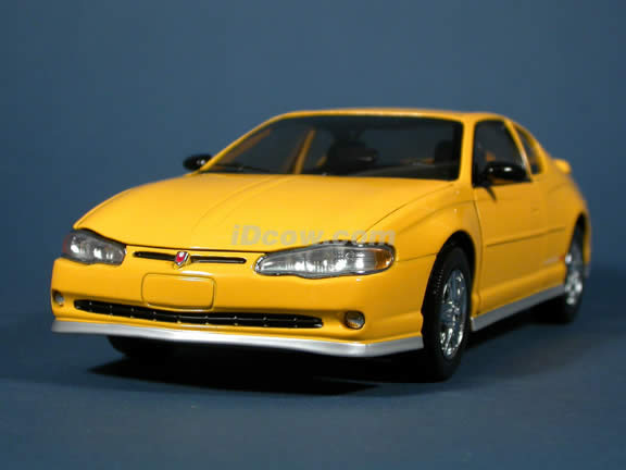 2003 Chevrolet Monte Carlo SS Diecast model car 1:18 scale die cast by Sun Star - Yellow