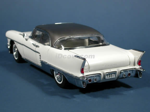 1957 Cadillac Brougham Diecast model car 1:18 scale die cast by Sun Star - Warm White