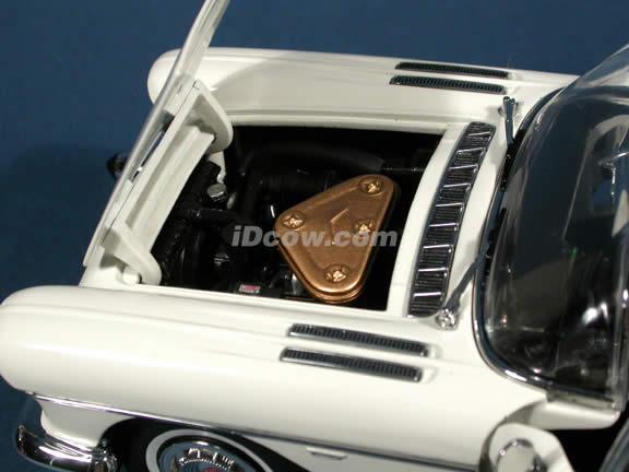 1957 Cadillac Brougham Diecast model car 1:18 scale die cast by Sun Star - Warm White