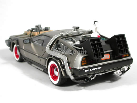 1982 DeLorean - Back To The Future III Diecast model car 1:18 scale die cast by Sun Star - Stainless Steel