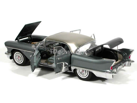 1957 Cadillac Brougham Diecast model car 1:18 scale die cast by Sun Star - Charcoal Grey
