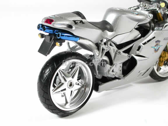 MV Agusta F4S Model Diecast Motorcycle 1:12 die cast by NewRay - Silver