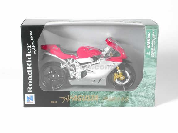 MV Agusta F4S Model Diecast Motorcycle 1:12 die cast by NewRay - Red