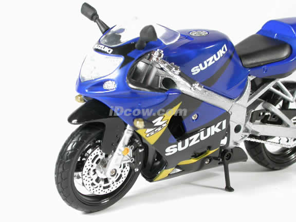 Suzuki GSX-R600 Model Diecast Motorcycle 1:12 die cast by NewRay - Blue