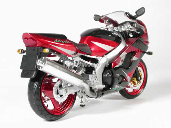 Kawasaki ZX-9R Model Diecast Motorcycle 1:12 die cast by NewRay - Red Black
