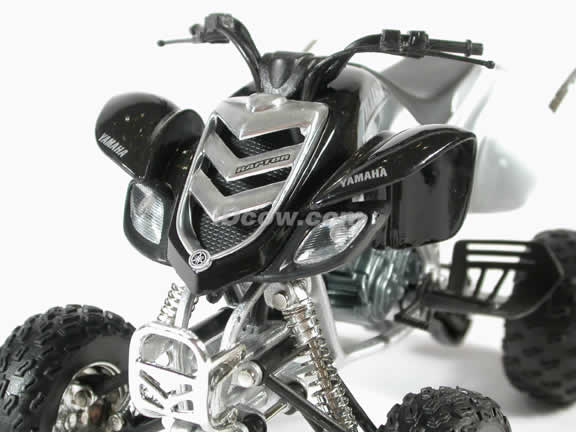 Yamaha Raptor 660R Model Diecast ATV 1:12 die cast by NewRay - Silver Black