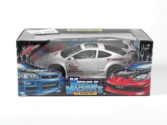 2002 Acura RSX diecast model car 1:18 scale die cast by Muscle Machines - White