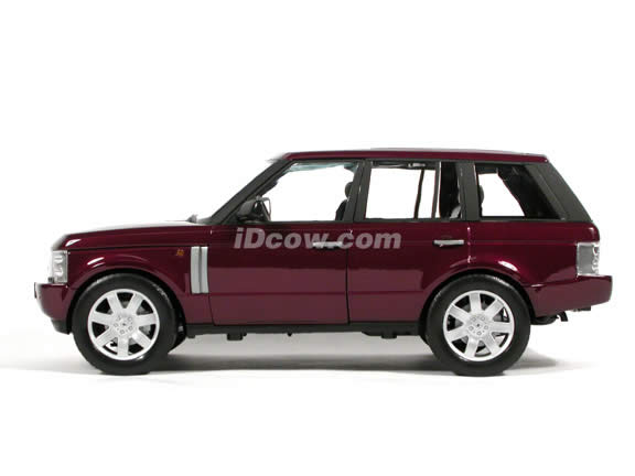 2003 Land Rover Range Rover diecast model car 1:18 scale die cast by Welly - Maroon