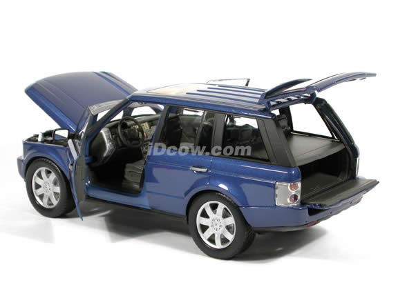 2003 Land Rover Range Rover diecast model car 1:18 scale die cast by Welly - Blue
