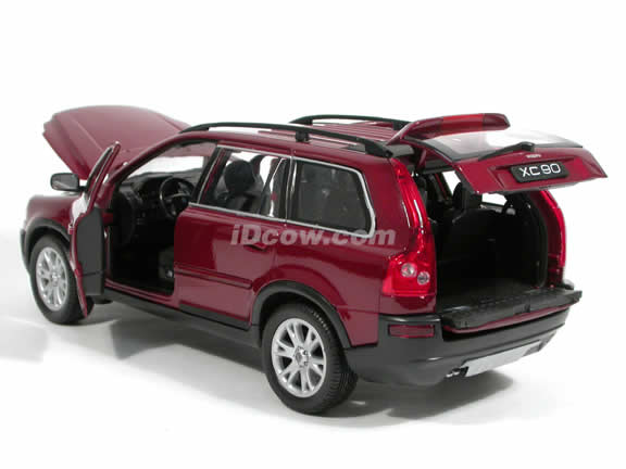 2005 Volvo XC90 V8 diecast model car 1:18 scale die cast by Welly - Dark Red 12549w