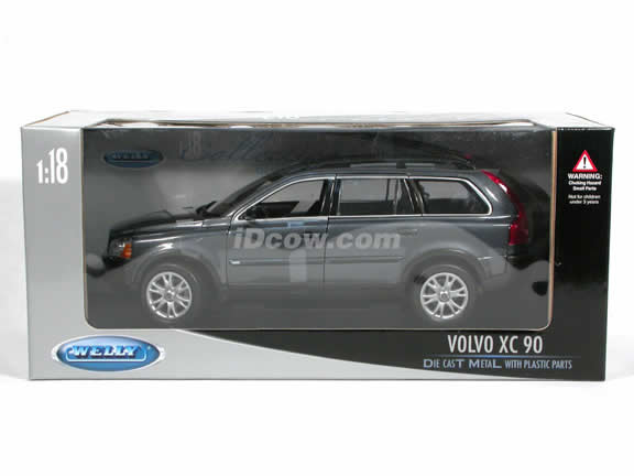 2005 Volvo XC90 V8 diecast model car 1:18 scale die cast by Welly - Dark Grey 12549w