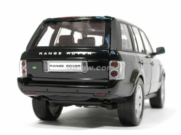 2003 Land Rover Range Rover diecast model car 1:18 scale die cast by Welly - Black 12536W