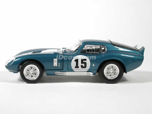 1965 Shelby Cobra Daytona #15 diecast model car 1:18 scale die cast by Yat Ming - Blue