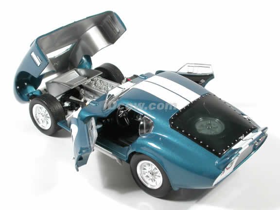 1965 Shelby Cobra Daytona #15 diecast model car 1:18 scale die cast by Yat Ming - Blue
