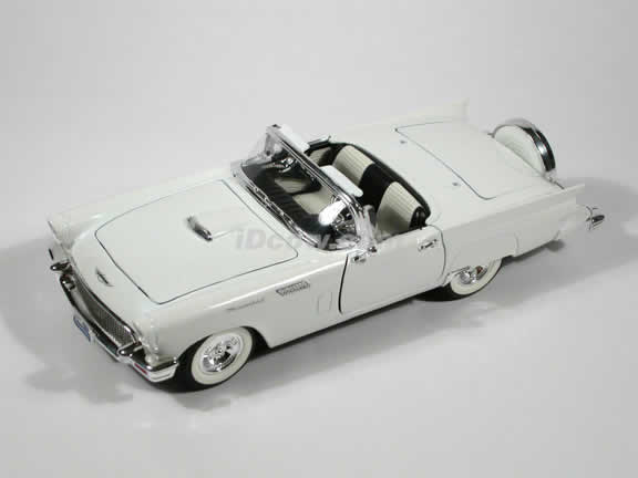 1957 Ford Thunderbird diecast model car 1:18 scale die cast by Yat Ming - White