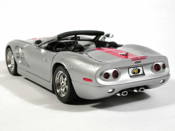 1999 Shelby Series 1 diecast model car 1:18 scale die cast by Yat Ming - Silver