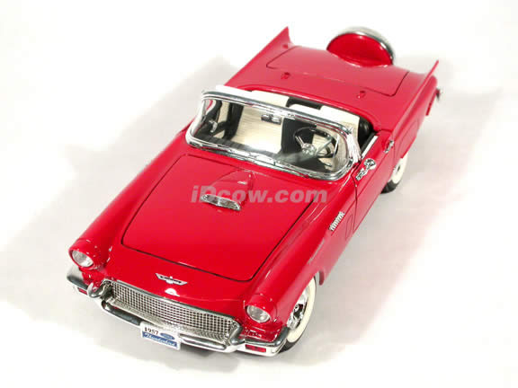 1957 Ford Thunderbird diecast model car 1:18 scale die cast by Yat Ming - Red