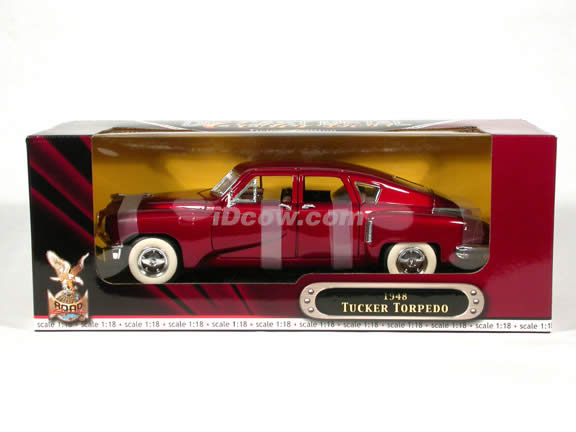 1948 Tucker Torpedo diecast model car 1:18 scale die cast by Yat Ming - Burgundy