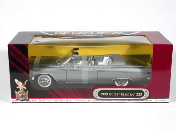 1959 Buick Electra 225 diecast model car 1:18 scale convertible by Yat Ming - Silver Convertible